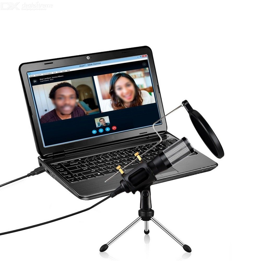 Drive-free USB Desktop Voice Computer Conference Microphone With Tripod Stand For Home Office