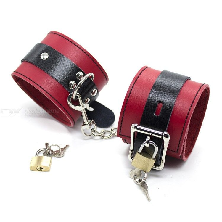 Handcuff | Leather | Golden | Lock | Toy