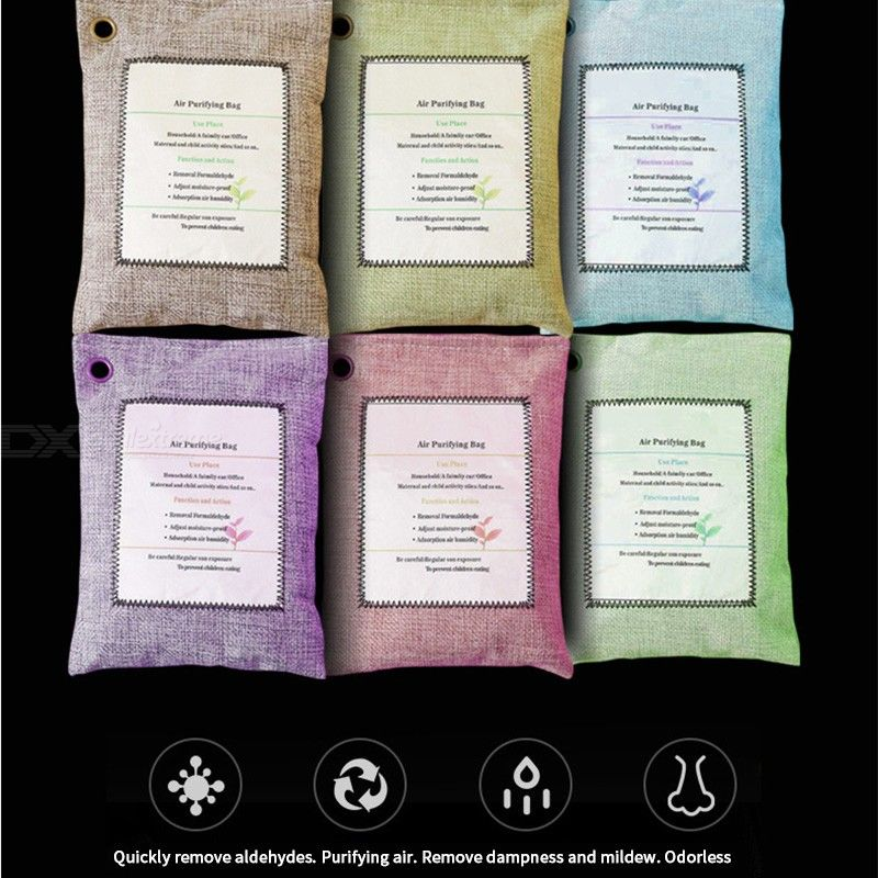 Bamboo Charcoal Air Purifying Bags For Removing Odor Car Bathroom Formaldehyde Purifier