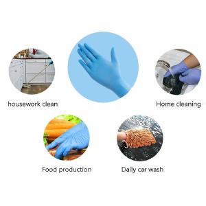 100pcs/set Household Latex Disposable Cleaning Gloves For Restaurant Kitchen
