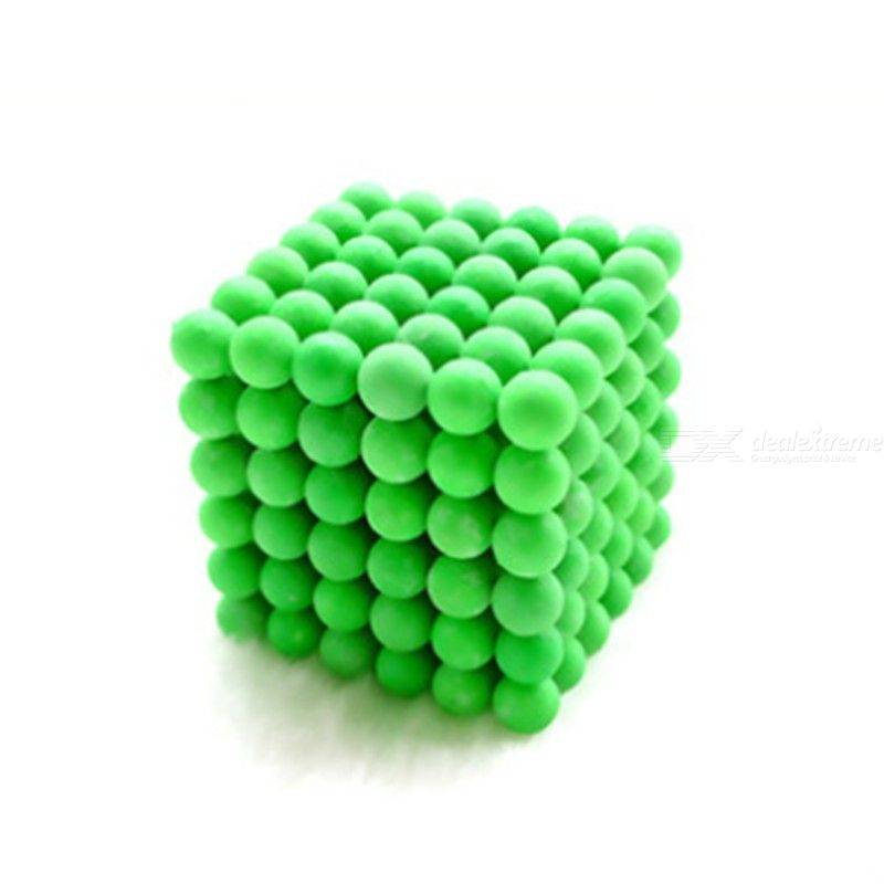 Fluorescent Green Puzzle Buckyballs Magnetic Ball, 3mm 216PCS Stress Relief Toy