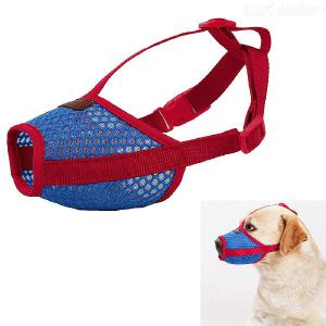 Breathable Mesh Pet Dog Muzzle Cover - Anti Biting Barking Screaming Prevent Accidental Eating