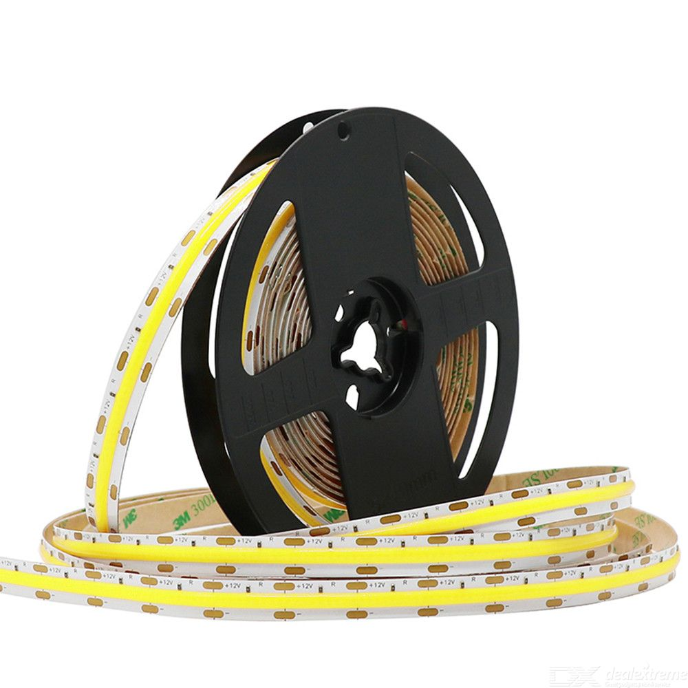 ZHAOYAO Highlighted IP44 Waterproof 5M 50W DC 12V White COB LED Strip