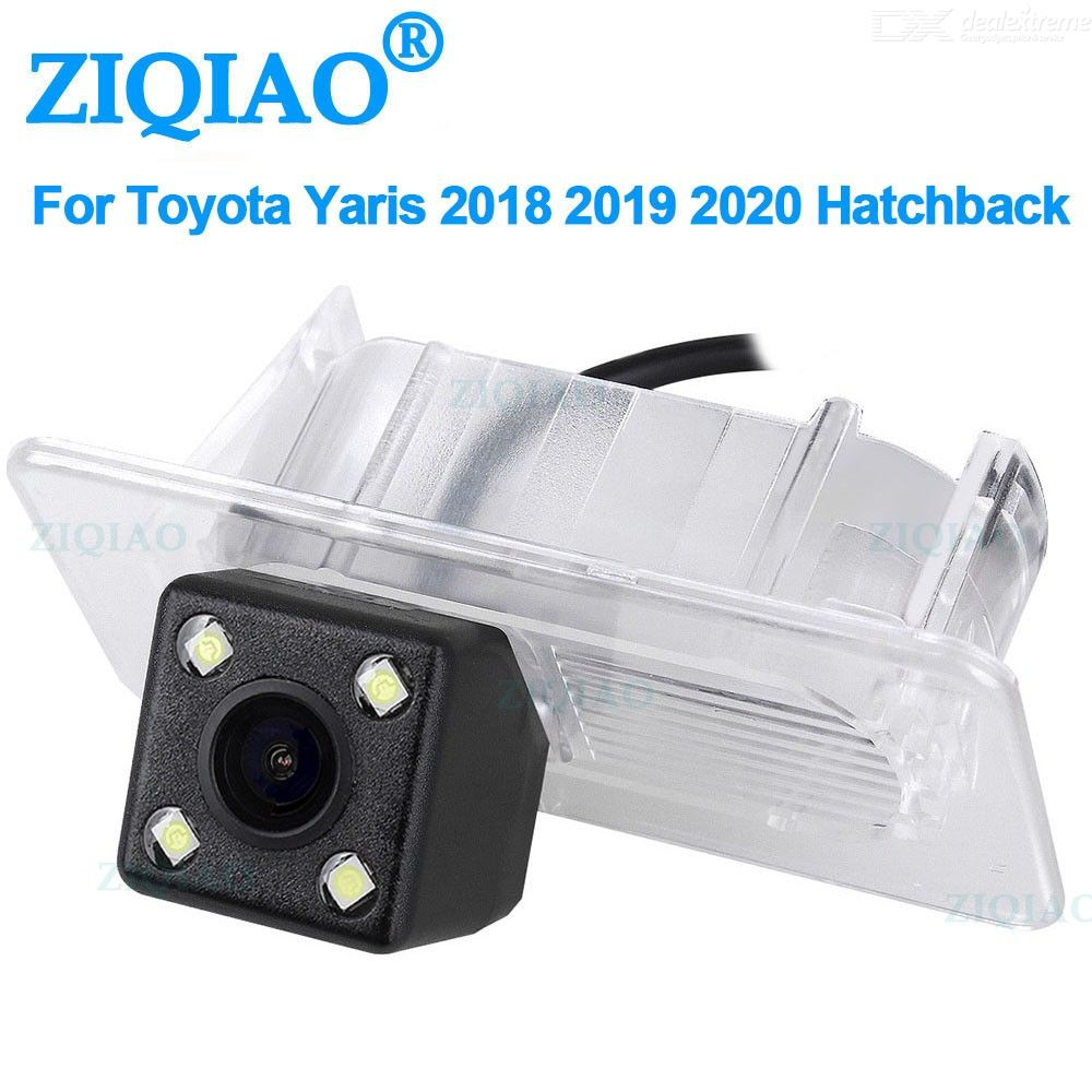 ZIQIAO for Toyota Yaris 2018-2020 Hatchback CCD Night Vision Backup Parking Reverse Camera Car Rear View Camera HS085