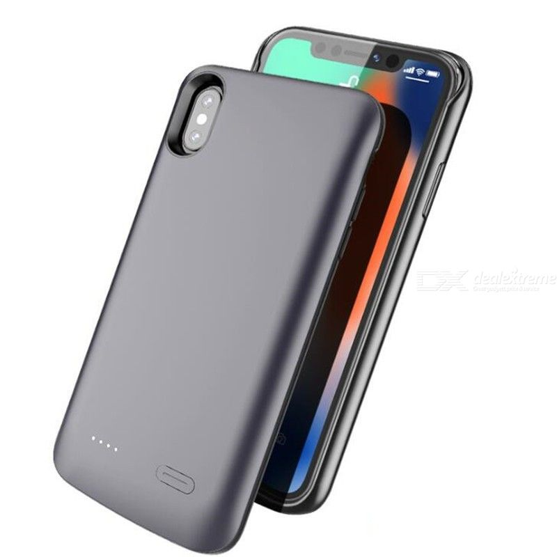 Battery Charger Case Support Audio Earphone For iPhone X Xs, 4000mAh External Power Bank Charging Cover