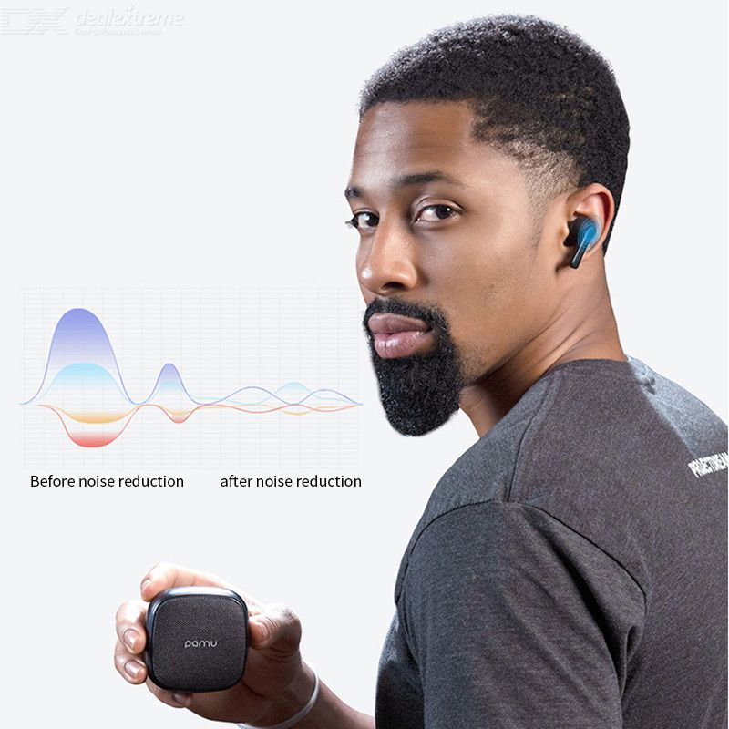 PaMu Slide True Wireless Earphones Noise Cancelling Bluetooth Headset TWS Earbuds With Charging Box And Dual Mic