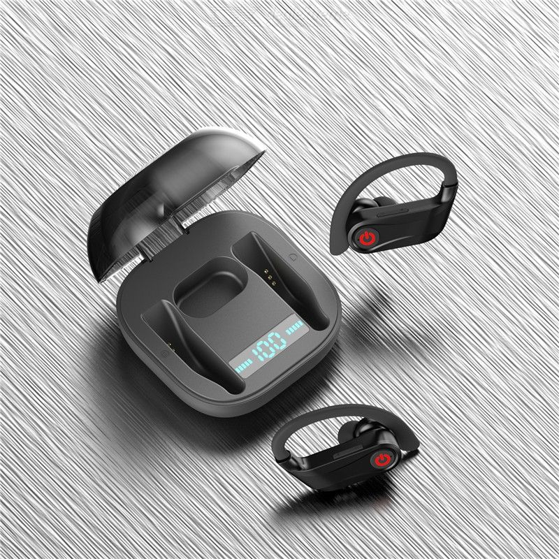 HBQ-Pro TWS Wireless Bluebooth V5.0 Earphone Stereo Bass Headphone Waterproof Sports Headset with Charging Box for Mobile Phone