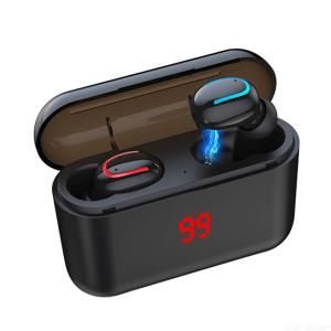 Q32 Upgrade Wireless Earbuds TWS Bluetooth 5.0 Binaural Headphones with Digital Display Charging Case