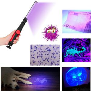 USB 30LED UVC Portable Ultraviolet Sterilizer, Handheld Rechargeable Ultraviolet Disinfection Lamp with Adjustable Brightness
