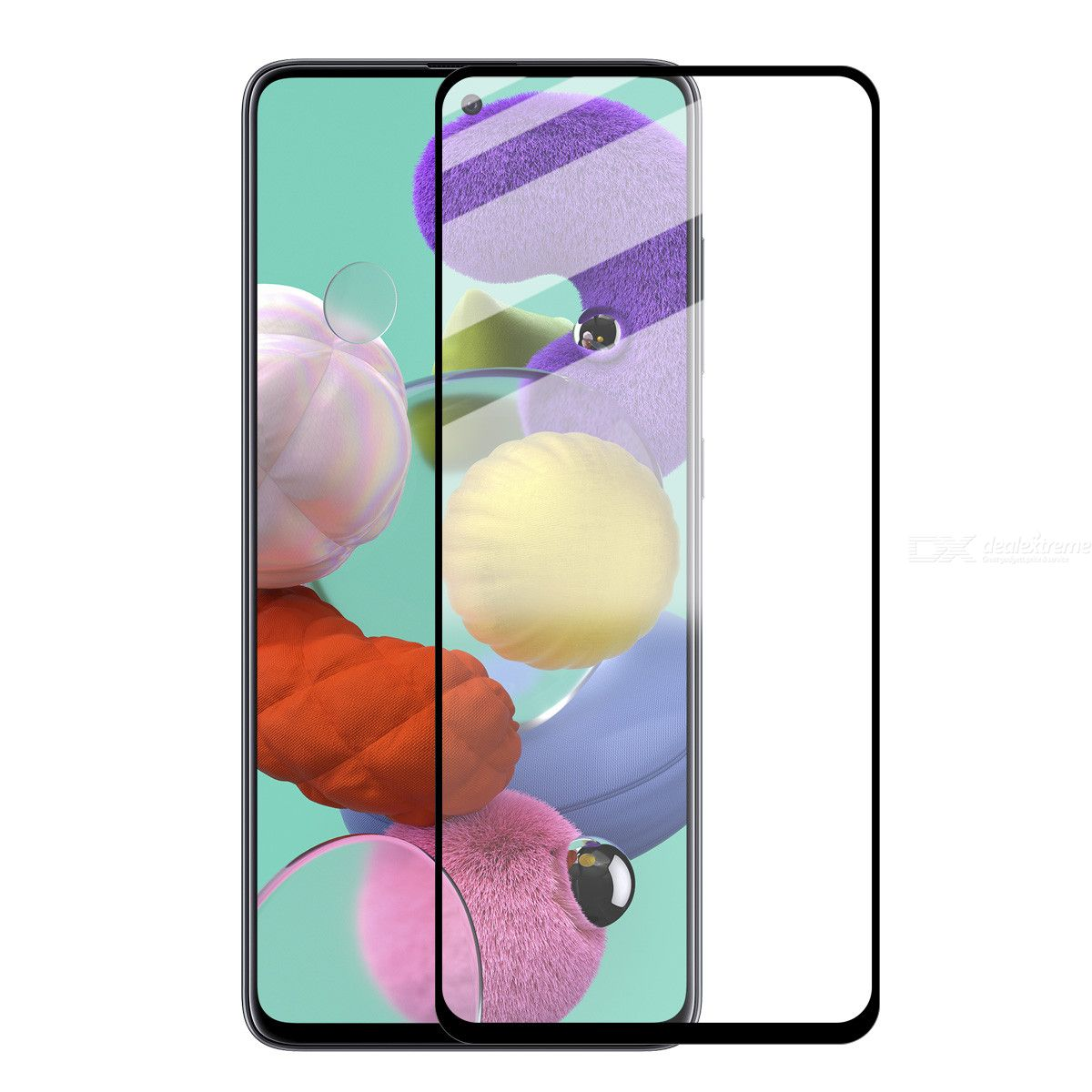 ENKAY Hat-Prince Full Glue 0.26mm 9H 2.5D Tempered Glass Full Coverage Film for Samsung Galaxy A51
