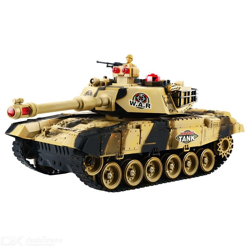 RC Tank Remote Control Military Car With Turret Sound Light Effect