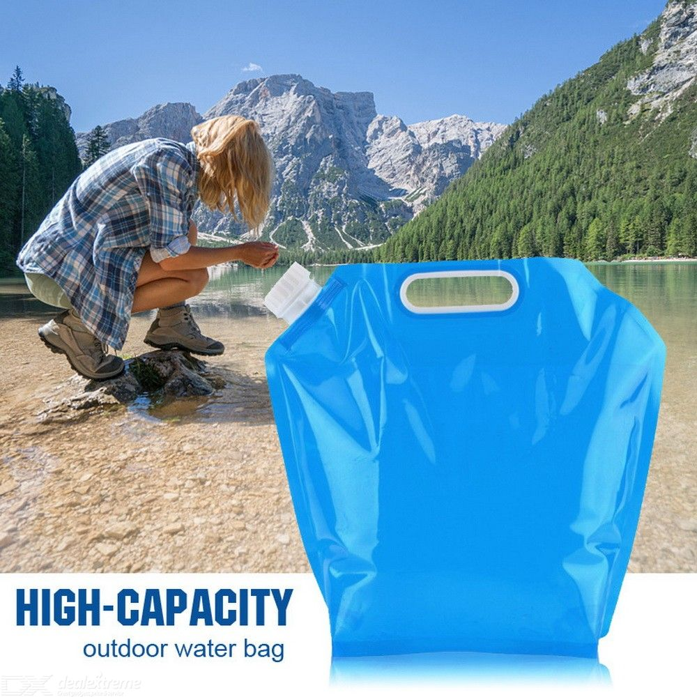 5L Outdoor Portable Water Bag Foldable Plastic Bucket For Camping Hiking