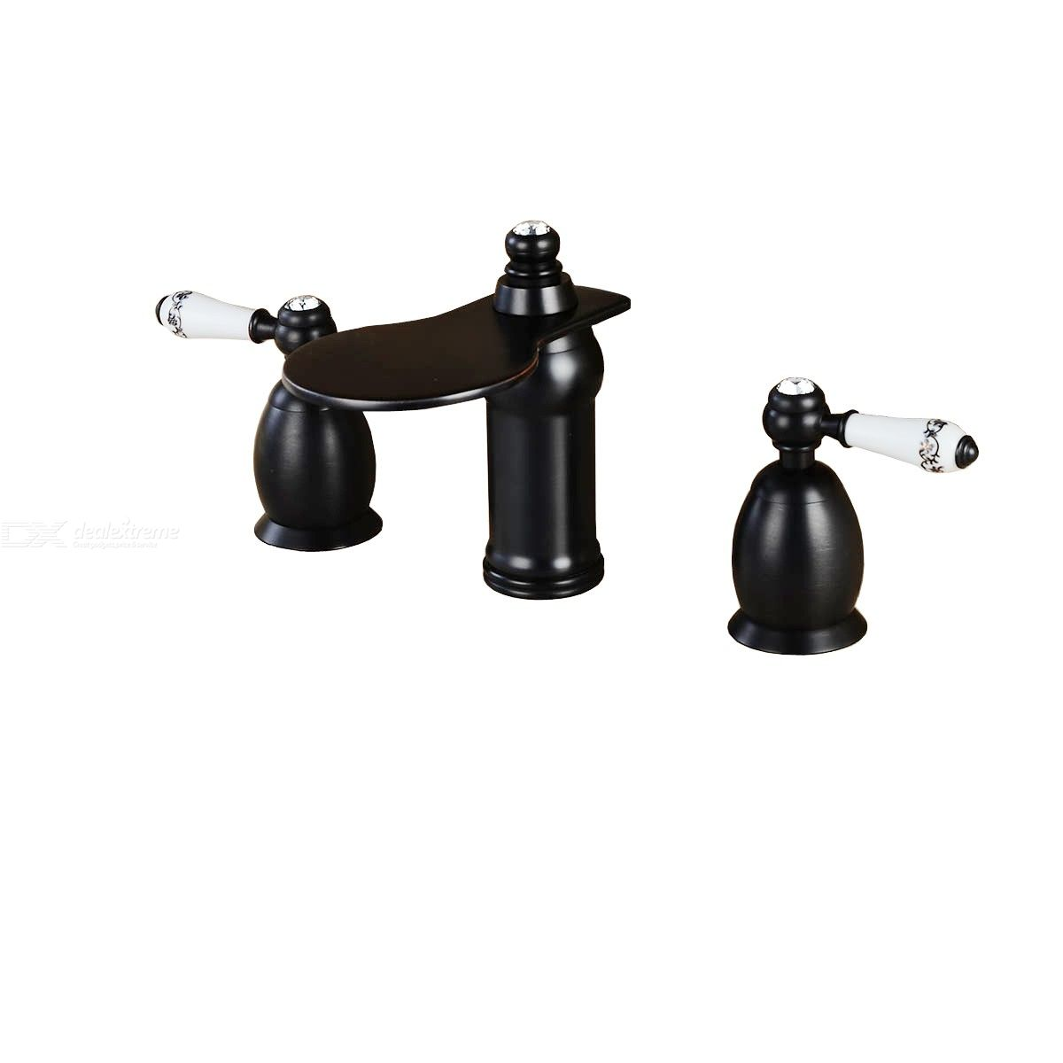 Special Price Bathroom Sink Faucet - Widespread Oil-rubbed Bronze Two Handles Three Holes Bath Taps / Brass