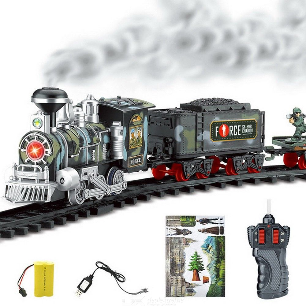 Electric Train Toys Battery-powered Steam Train Set For Kids Children