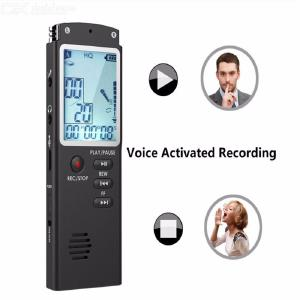 Quelima Professional Recording Pen, Large Screen HD Noise Reduction Voice Recorder 8GB MP3 Player