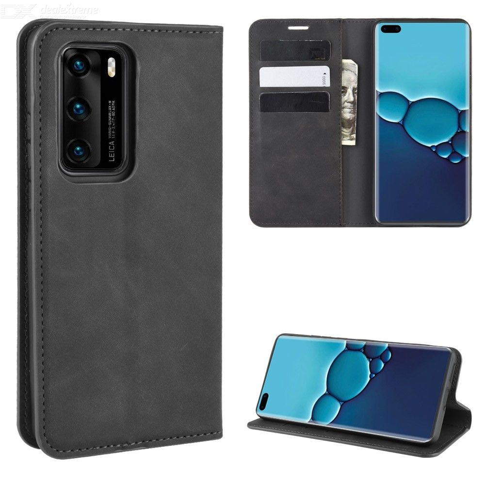 CHUMDIY PU Leather Wallet Case with Magnetic Closure for Huawei P40
