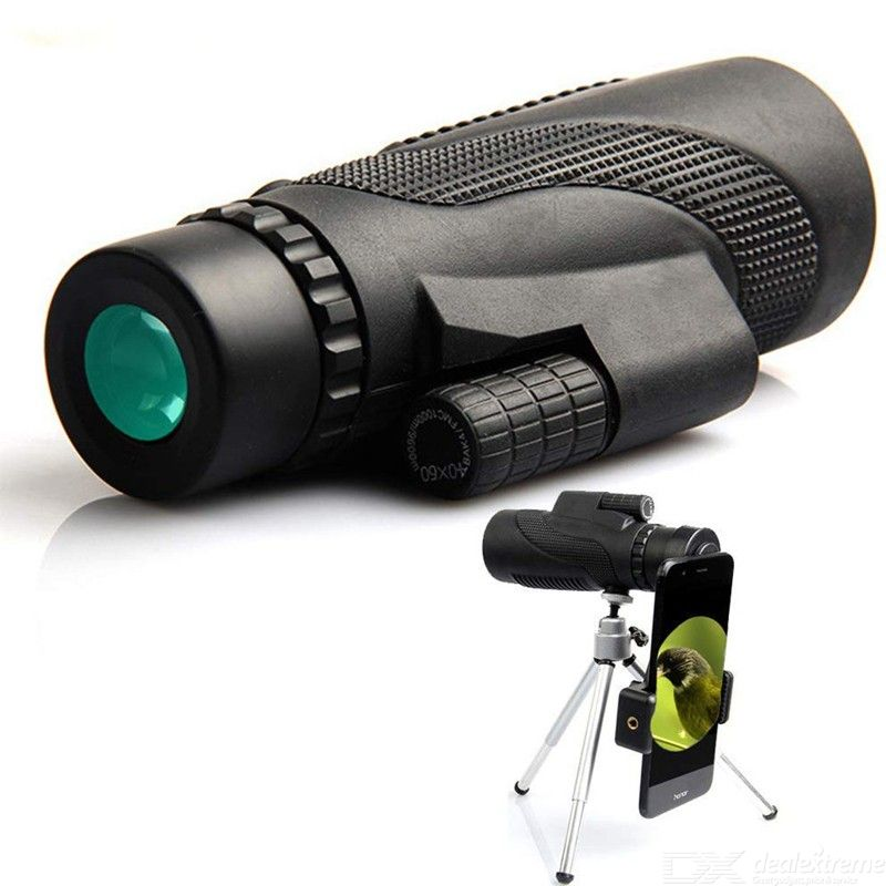 Waterproof High Definition Monocular, 40X60 Military Night Vision HD Professional Hunting Telescope With Tripod Phone Holder