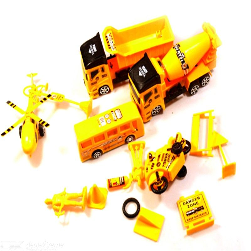 Truck Construction Engineering Construction Site Puzzle Car Model Toy Gift for Kids