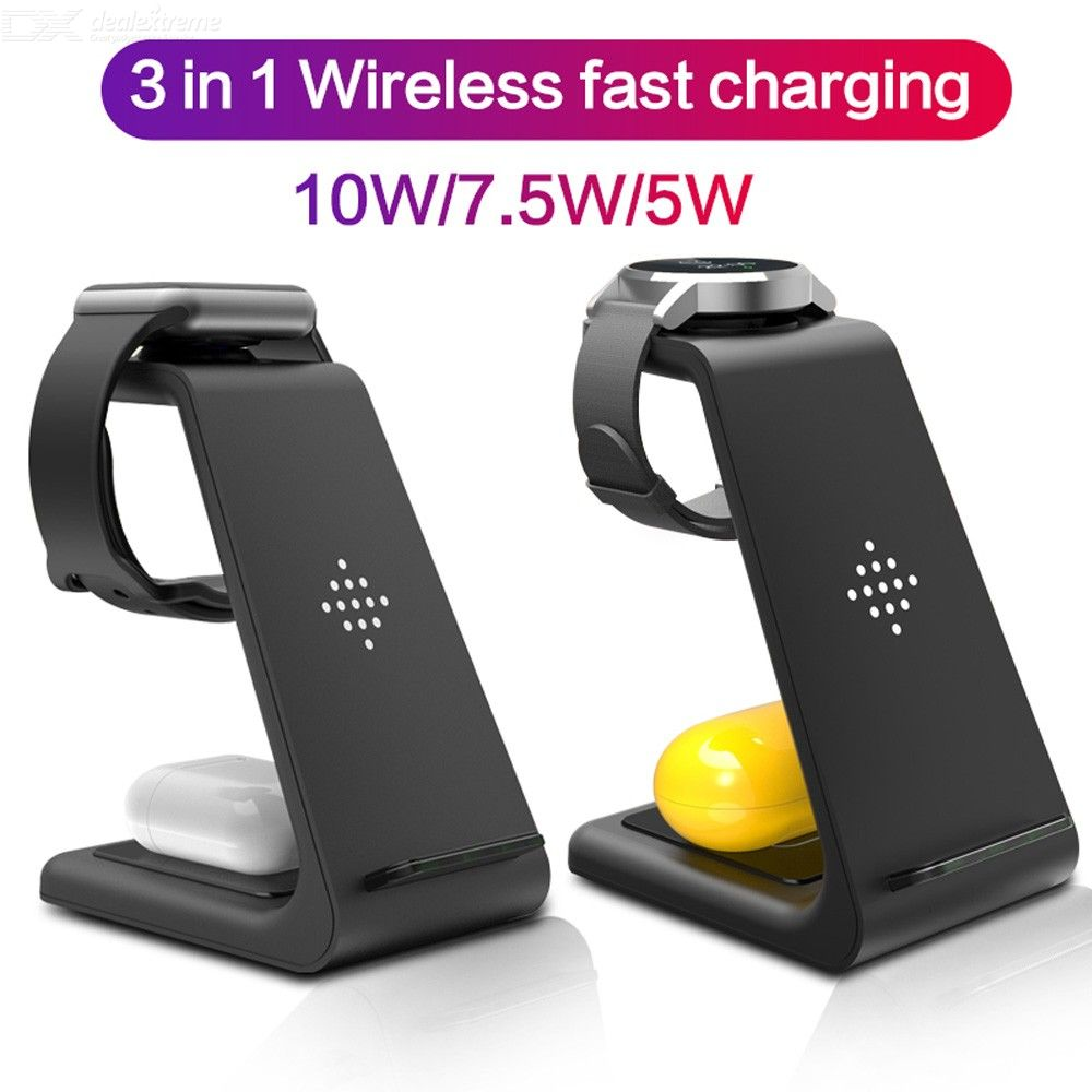 Wireless Charger For iPhone 11 Pro 8 X Samsung S10 Fast Wireless Charger Stand For iWatch 5 4 For Samsung Watch For Galaxy Buds