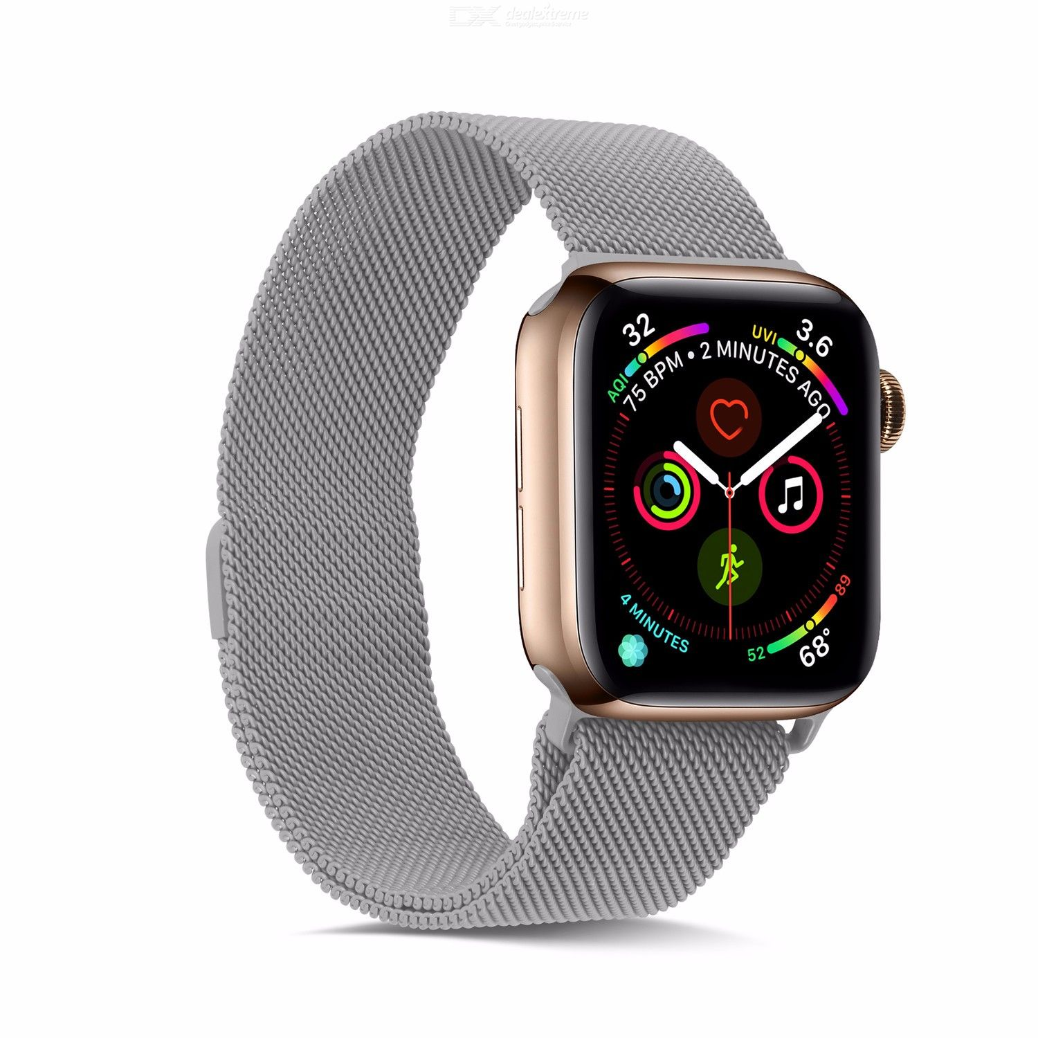Milanese Loop Strap For Apple Watch 44mm 40mm 38mm 42mm, Magnetic Buckle Stainless Steel Replacement Watch Band for iWatch 12345