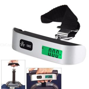 Portable Luggage Scale, 50kg / 10g Stainless Steel Precision Hook Scale