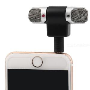 Mini 3.5mm Jack Microphone Stereo Mic For Recording Mobile Phone Studio Interview Microphone 3/4 Pin For PC Smartphone