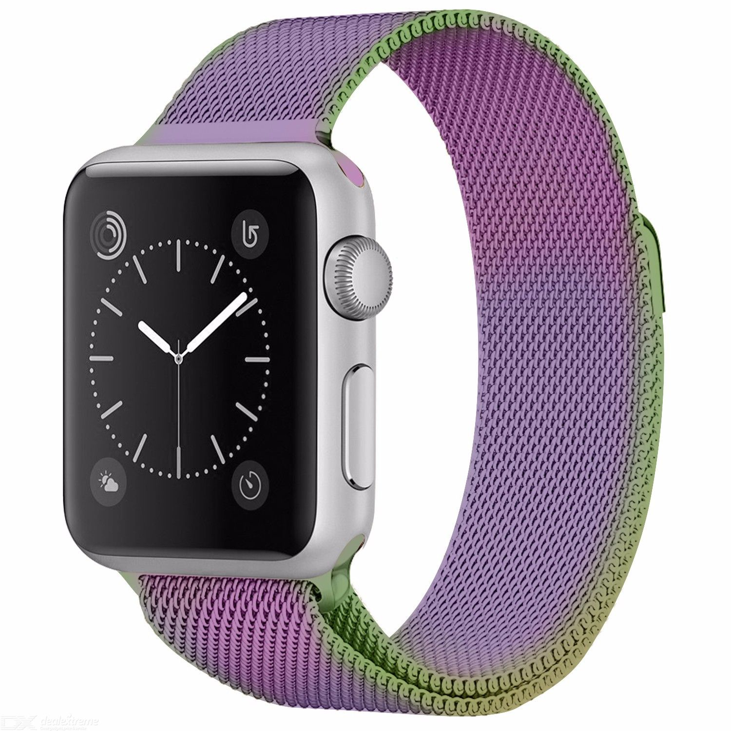 Milanese Loop Strap For Apple Watch 44mm 40mm 38mm 42mm, Magnetic Buckle Stainless Steel Watch Replacement Band for iWatch 12345
