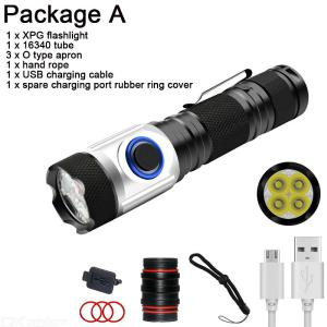 2000 Lums LED XPG2 Tactical Flashlight Super Bright USB Rechargeable 18650/16340 Battery Camping Outdoor Powerful Flashlight