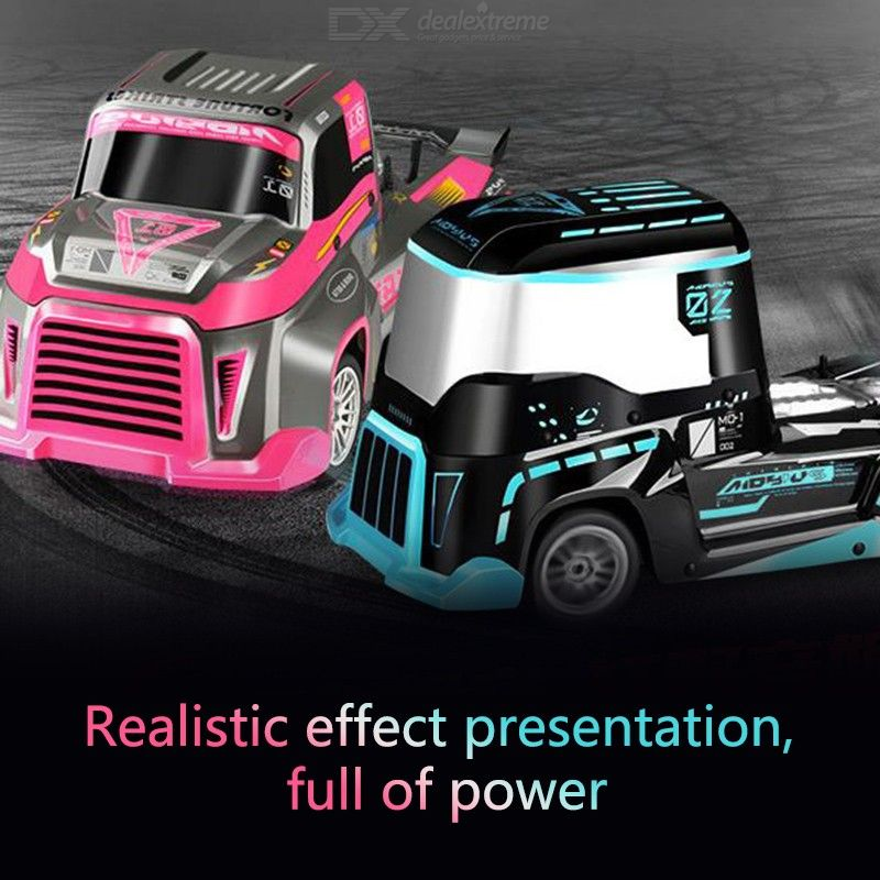 J801 RC Truck 2.4Ghz 1/10 High Speed LED Racing Car Simulation Fast Vehicle Truck Model Toys Gift