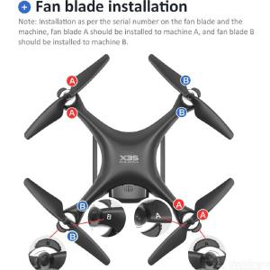 X35 5G Drone 4K GPS Professional RC Quadcopter Brushless Motor With Wifi HD Camera Gimbal Stabilizer 26 Minute Flight