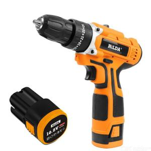 HILDA 340W 16.8V Electric Drill With Rechargeable Lithium Battery Electric Screwdriver Cordless Screwdriver Two-speed Power Tool