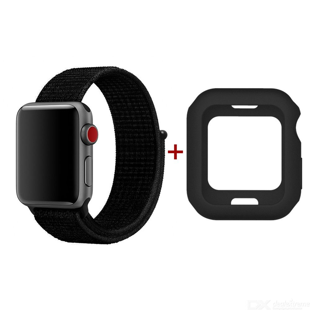 Applicable to Apple iWatch 1 / 2 / 3 / 4 generation Nylon Band + shell package