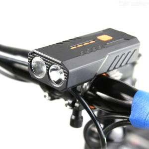 Ultra Bright LED Bicycle Light, USB Rechargeable 4800mAh Rainproof T6 LED MTB Light For Bicycle Outdoor Flashlight