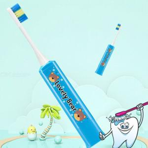 Children Cartoon Soft Waterproof Electric Toothbrush