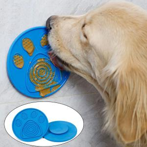 Dog Bath Lick Pad Mat Suction Cup Pet Slow Feeders Bathing Licking Mat