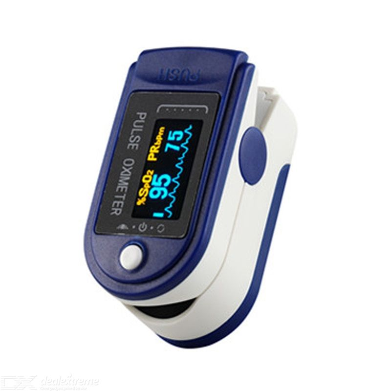 Fingertip Pulse Oximeter Blood Oxygen SpO2 Sports And Aviation Fingertip Monitor With Carrying Case, Lanyard