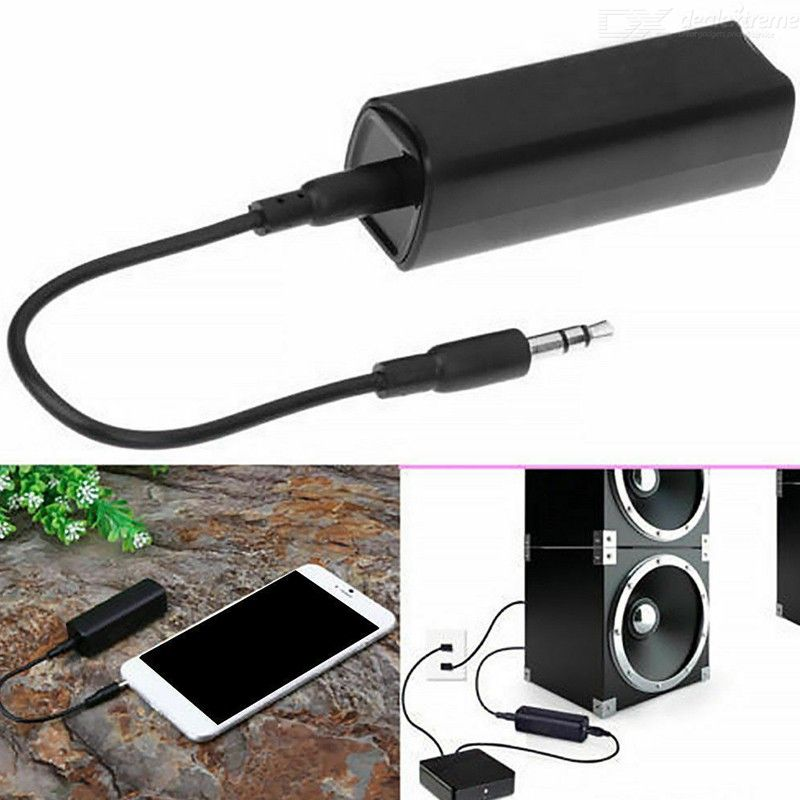 Durable Car Audio, Home Anti-interference Stereo, Clear ABS Aux Sound, Safe Ground Loop, Portable Noise Isolator, Wired Speakers
