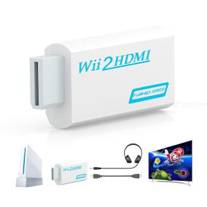 Wii to HDMI Converter Adapter Full HD 1080P Wii2 HDMI Converter 3.5mm Audio for PC HDTV Monitor Display