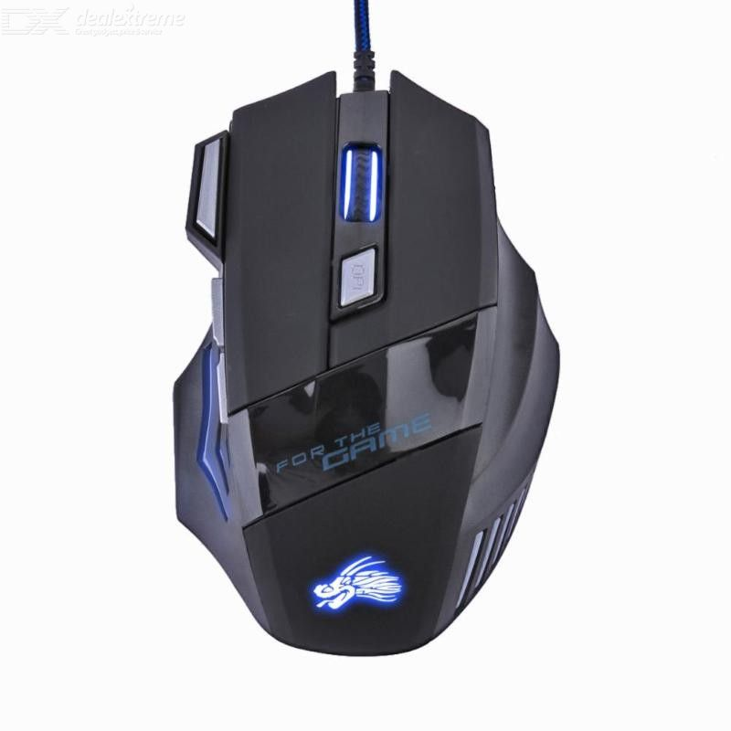 Gaming Mouse 5500DPI USB Wired Optical Gaming Mouse with 6 Buttons LED Breathing Light