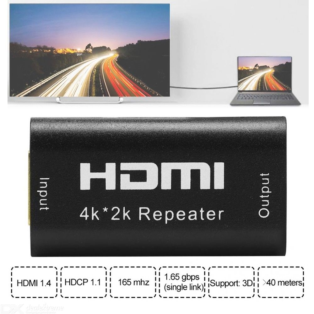 Mini 1080P HDMI Extender Repeater 3D HDMI Adapter HDMI Signal Amplifier UP to 40M HDMI Splitter HD 1.65Gbps Extender Amplifier