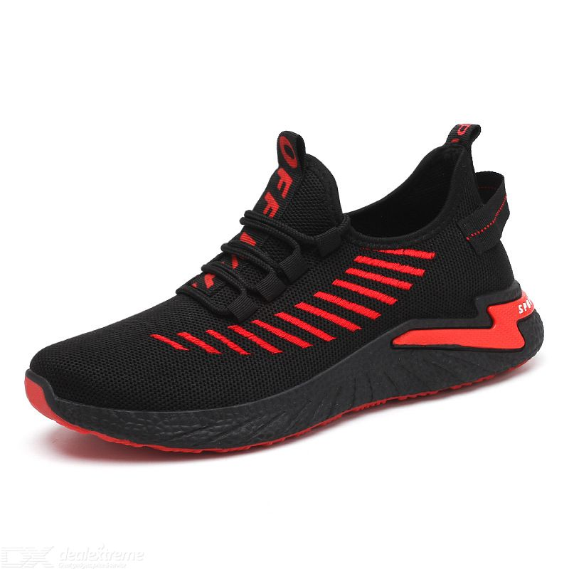 Mens Sneakers Breathable Mesh Lightweight Walking Running Shoes
