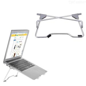 Folding Portable Laptop Stand Viewing Angle / Height Adjustable Aluminum Alloy Bracket Support for 10-17 Inch Notebook