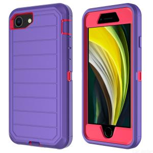 Anti-Scratch Protective Phone Case for IPhone SE2, Hard PC Frame + Soft TPU Back Cover for iPhone 6/7/8
