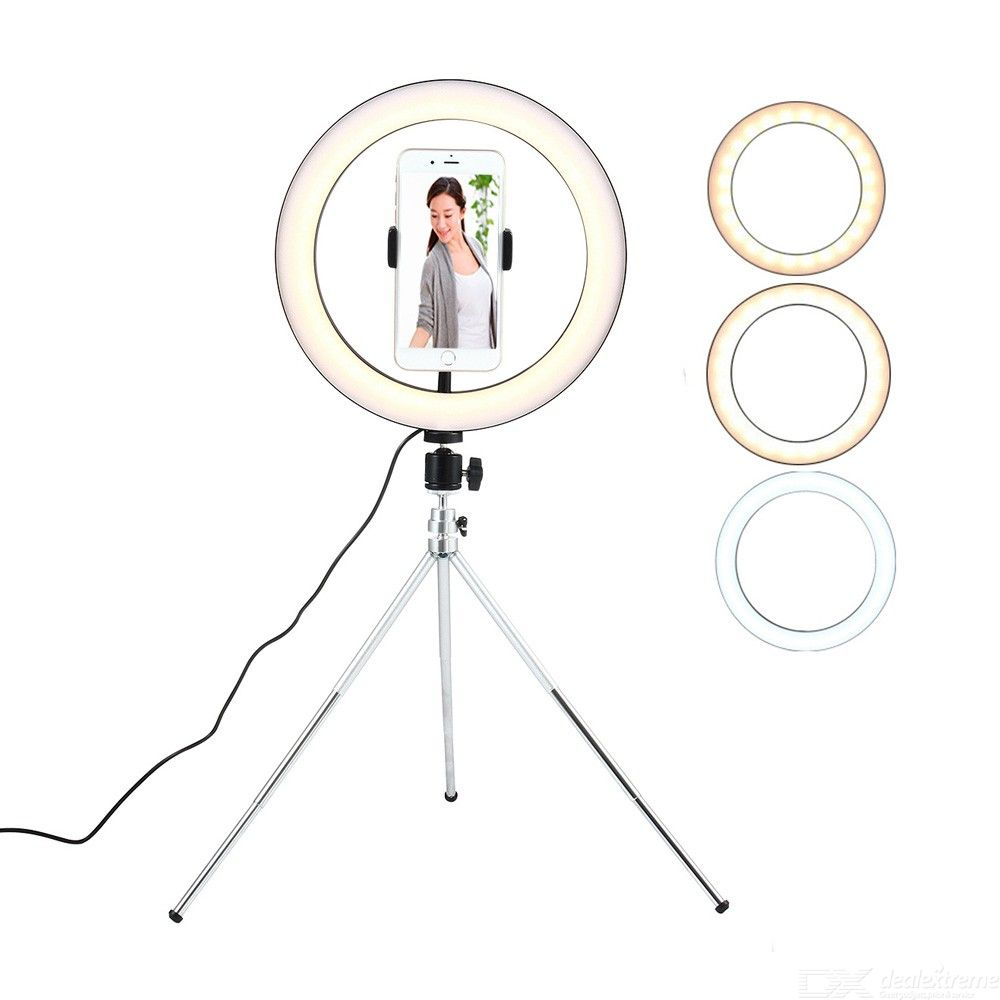 10.23 Inch Adjustable LED Beauty Ring Fill Light with Tripod