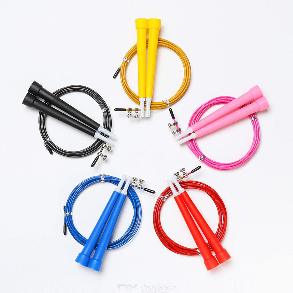 Steel Skip Wire Adjustable Jump Rope For Kids Adults