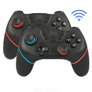 Wireless Bluetooth Gamepad Console 6 Axis Controllers Ergonomic Game Handle For NS Switch Pro Nintendo - Black