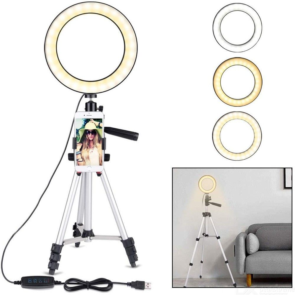 7.9 Inch Dimmable LED Ring Light with Tripod