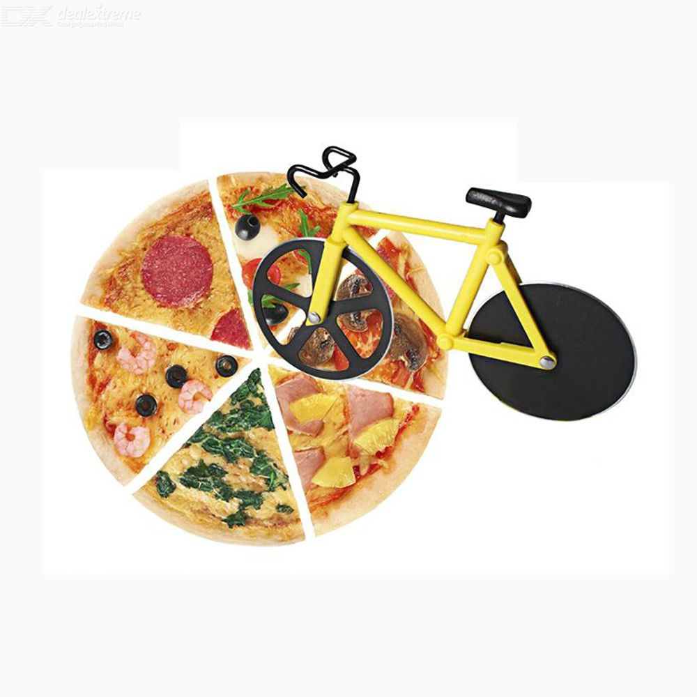 Bicycle Pizza Cutter Wheel Slicer Stainless Steel Sharp Cake Pastry Cutter