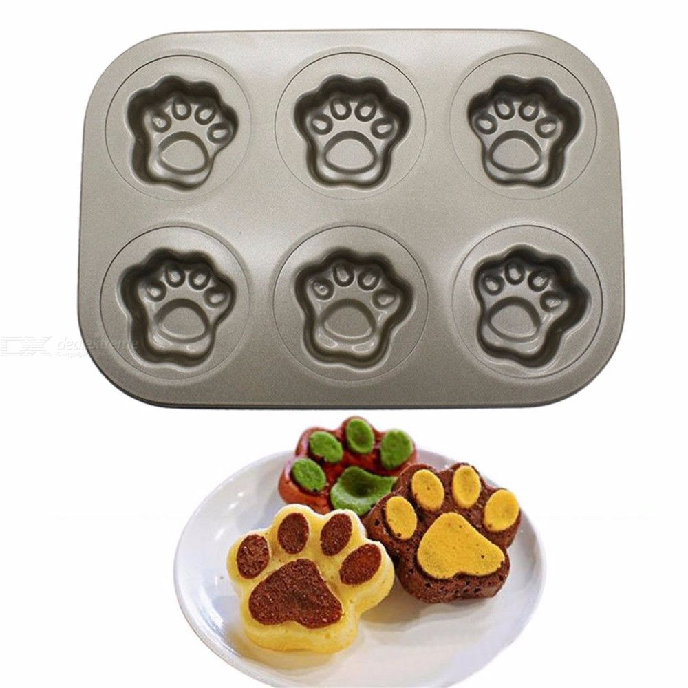 Bakeware Cat Claw Mini Muffin Pan 6-Cup Nonstick Baking Cake Mold Pan