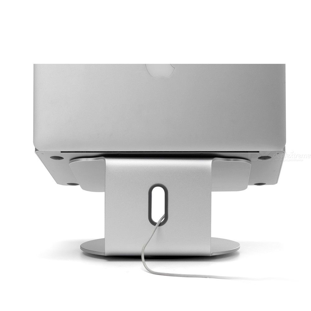 Laptop Stand Height-and-Angle Adjustable Laptop Riser Holder 360° Rotatable Aluminum Alloy Notebook Mount